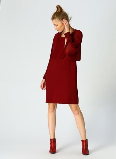 Random Elbise Bordo